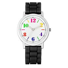 お買い得  レディース腕時計-女性用 カジュアルウォッチ / ファッションウォッチ / リストウォッチ クール / 多色 シリコーン バンド ヴィンテージ / カジュアル ブラック / 白 / ブルー