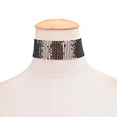 preiswerte Halsketten-Damen Halsketten / Tattoo-Hals - Personalisiert, Tattoo Stil, Punk Silber, Golden, Regenbogen Modische Halsketten Für Weihnachts Geschenke, Party, Geburtstag
