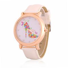 preiswerte Damenuhren-Damen Armbanduhr Modeuhr Quartz Strass PU Band Freizeit Cool Schwarz Weiß Blau Braun Rosa