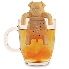 szilikon kávé tea infuser kutya mopsz teáskanna gyógynövény fűszer szűrő szűrő ajándék (véletlenszerű szín)