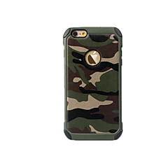billige iPhone 6 Plus Plus-etuier-Etui Til Apple iPhone 8 iPhone 8 Plus iPhone 6 iPhone 7 Plus iPhone 7 Stødsikker Bagcover Camouflage Hårdt PC for iPhone 8 Plus iPhone 8