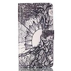 Для Бумажник для карт Кошелек со стендом Флип С узором Магнитный Кейс для Чехол Кейс для дерево Твердый Искусственная кожа для Sony Other