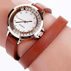 Dames Dress horloge Modieus horloge Armbandhorloge Zwevende kristallen horloge Polshorloge Kwarts Strass Punk Kleurrijk imitatie Diamond