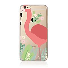 halpa Päivän tarjoukset-Etui Käyttötarkoitus Apple iPhone X iPhone 8 Plus iPhone 7 iPhone 6 iPhone 5 kotelo Läpinäkyvä Kuvio Takakuori Flamingo Pehmeä TPU varten