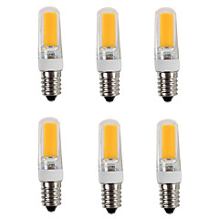 preiswerte LED-Birnen-6pcs 3200lm E14 LED Doppel-Pin Leuchten T 1 LED-Perlen COB Warmes Weiß Kühles Weiß 220-240V