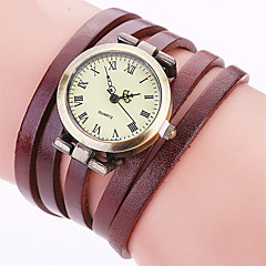 Women's Fashion Watch Wrist watch Bracelet Watch Punk Colorful Quartz Leather Band Vintage Candy color Bohemian Charm Bangle Cool Casual