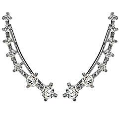 Χαμηλού Κόστους Σκουλαρίκια-Γυναικεία Χειροπέδες Ear μινιμαλιστικό στυλ Υποαλλερικό Μοντέρνα Στρας Επάργυρο Προσομειωμένο διαμάντι Κράμα Κοσμήματα Κοσμήματα Για