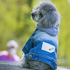 Köpekler Kapüşonlu Giyecekler Kurtki jeansowe Köpek Giyimi Kovboy Moda Kotlar Mavi