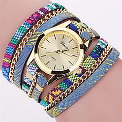 preiswerte Damenuhren-Damen Armband-Uhr Armbanduhr Quartz Cool Punk Mehrfarbig Stoff Band Analog Charme Retro Freizeit Mehrfarbig - Rot Blau Rosa