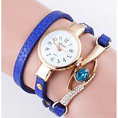 preiswerte Damenuhren-Damen Armband-Uhr Armbanduhr Quartz Schlussverkauf / Leder Band Analog Blume Böhmische Modisch Schwarz / Weiß / Blau - Rosa Marineblau Hellblau