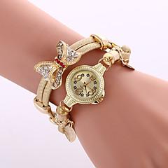 preiswerte Tolle Angebote auf Uhren-Damen Quartz Armbanduhr Armband-Uhr Mehrfarbig Legierung Band Charme Glanz Retro Freizeit Schmetterling Böhmische Kleideruhr Modisch Cool