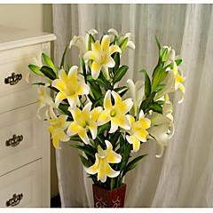 1 1 şube Plastik / Others Lilies / Others Yer Çiçeği Yapay Çiçekler