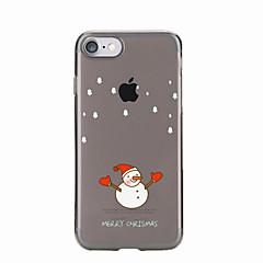 Для Прозрачный / С узором Кейс для Задняя крышка Кейс для Новогодняя тематика Мягкий TPU для AppleiPhone 7 Plus / iPhone 7 / iPhone 6s