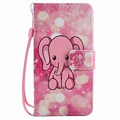 Lg k10 k7 kotelon kansi vaaleanpunainen elephant maalattu kaulanauha pu puhelin tapauksessa nexus 5x lss775 xpower