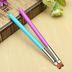 2db / szett manikűr termékek kettős kettős körömkefe fúró csillogó flitterekkel kristály gyémánt fúró toll ecsettel