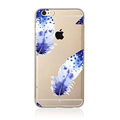 Недорогие Кейсы для iPhone 5с-Кейс для Назначение Apple iPhone X iPhone 8 Plus Кейс для iPhone 5 iPhone 6 iPhone 7 Прозрачный С узором Кейс на заднюю панель  Перья