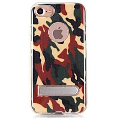 Для со стендом Кейс для Задняя крышка Кейс для Камуфляж Твердый TPU для AppleiPhone 7 Plus / iPhone 7 / iPhone 6s Plus/6 Plus / iPhone