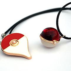 Insignă / Mai multe accesorii Inspirat de Pocket Monster PIKA PIKA Anime Accesorii Cosplay Colier / Insignă Roșu Aliaj