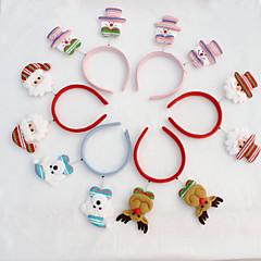 10PCS 크리스마스 머리 크리스마스 밝은 천 컬러 헤드가 크리스마스 장식을 크리스마스 파티 용품 버클 버클