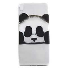 Недорогие Чехлы и кейсы для Sony-Для sony xperia e5 xa чехол для крышки panda рисунок высокая проницаемость покраска tpu материал телефон чехол