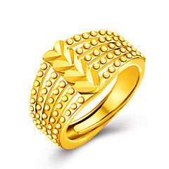 Ring Band Rings Love Gold 18K gold Heart Golden Jewelry For Wedding Party Daily Casual Valentine 1pc