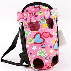 お買い得  犬用品&グルーミング用品-ネコ / 犬 キャリーバッグ / フロントバックパック ペット用 キャリア 携帯用 / キュート 幸福 ピンク