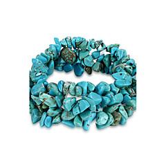 billige Damesmykker-Dame Kæde & Lænkearmbånd Unikt design Mode Fødselssten kostume smykker Krystal Turkis Smykker Smykker Til Fødselsdag Daglig