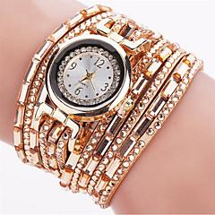 preiswerte Tolle Angebote auf Uhren-Damen Armband-Uhr Armbanduhr Quartz leuchtend Cool Punk PU Band Analog Charme Glanz Retro Schwarz / Blau / Silber - Blau Rosa Hellblau