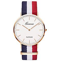 preiswerte Tolle Angebote auf Uhren-Damen Armbanduhr / / Mehrfarbig Stoff Band Freizeit / Modisch Blau / Edelstahl / Ein Jahr / Tianqiu 377