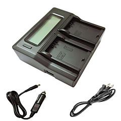 ismartdigi lpe5 lcd double chargeur avec câble de charge de voiture pour canon eos 500d 1000d 450D de batterys de caméra