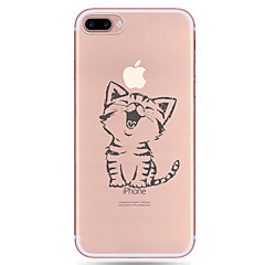 Para iPhone X iPhone 8 iPhone 7 iPhone 7 Plus iPhone 6 Case Tampa Estampada Capa Traseira Capinha Gato Macia PUT para Apple iPhone X