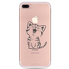 Voor iPhone X iPhone 8 iPhone 7 iPhone 7 Plus iPhone 6 Hoesje cover Patroon Achterkantje hoesje Kat Zacht TPU voor Apple iPhone X iPhone