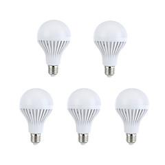 preiswerte LED-Birnen-5 Stück 330-360lm E26 / E27 LED Kugelbirnen A60(A19) 15 LED-Perlen SMD 5630 Dekorativ Warmes Weiß / Natürliches Weiß 220-240V