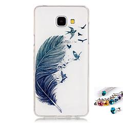 olcso Galaxy A5 tokok-Case Kompatibilitás Samsung Galaxy A5(2016) A3(2016) IMD Átlátszó Minta Hátlap Tollak Puha TPU mert A5(2016) A3(2016)