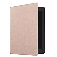 お買い得  タブレット用ケース-フルボディケースの場合タブレットケースコボオーラワンのためのソリッドカラーハードpuレザー