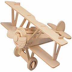 بانوراما الألغاز تركيب خشبي اللبنات DIY اللعب طيارة / بيت 1 خشب كريستال ألعاب البناء و التركيب