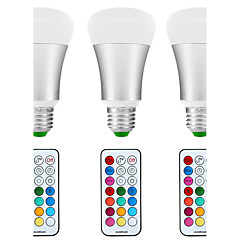 8.5W E26/E27 LED Globe Bulbs A80 1 COB 880 lm Natural White RGB K Sensor Infrared Sensor Waterproof Dimmable Remote-Controlled Decorative 3sets