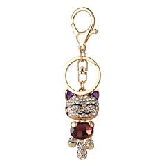 preiswerte Schlüsselanhänger-Schlüsselanhänger Purpur / Rot / Rosa Aleación Tier Design, nette Art, Euramerican Für