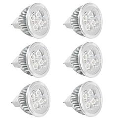 お買い得  LED 電球-6本 350lm GU5.3(MR16) LEDスポットライト MR16 LEDビーズ ハイパワーLED 温白色 クールホワイト 12V