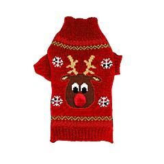 abordables Ropa para Gato-Gato / Perro Suéteres / Navidad Ropa para Perro Reno Negro / Rojo Fibra de acrílico Disfraz Para mascotas Hombre / Mujer Navidad / Año Nuevo