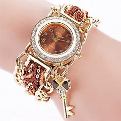 preiswerte Damenuhren-Damen Armband-Uhr Quartz Armbanduhren für den Alltag Stoff Band Analog Retro Freizeit Modisch Schwarz / Weiß / Blau - Rot Rosa Hellblau
