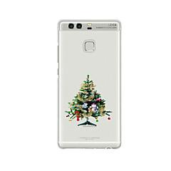 abordables Promoción PayPal-Para Diseños Funda Cubierta Trasera Funda Navidad Suave TPU para HuaweiHuawei P9 / Huawei P9 Lite / Huawei P9 Plus / Huawei P8 / Huawei