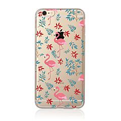 hoesje Voor Apple iPhone X iPhone 8 Plus iPhone 7 iPhone 6 iPhone 5 hoesje Doorzichtig Patroon Achterkantje Flamingo Zacht TPU voor
