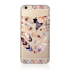 Для Полупрозрачный / С узором Кейс для Задняя крышка Кейс для Перо Мягкий TPU для AppleiPhone 7 Plus / iPhone 7 / iPhone 6s Plus/6 Plus /