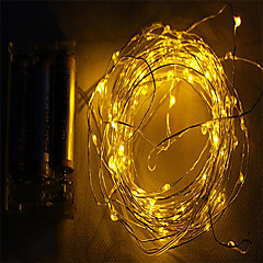 2M 10led 3AA Battery Powered waterproof Decoration LED Copper Wire  Lights String  for Christmas festival Wedding Party