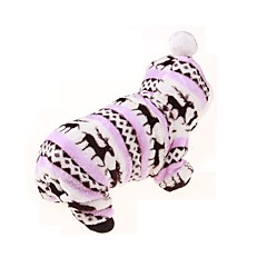 tanie Ubranka i akcesoria dla psów-Pies Bluzy z kapturem Kombinezon Ubrania dla psów Oddychający Zatrzymujący ciepło Sportowe Kwiatowy/roślinny Coffee Pearl Pink Niebieski