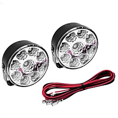 billiga LED-billampor-5W 400-450LM White Light LED-lampa för bil Varselljus (DC 12V, 1-Pair)