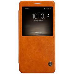 Недорогие Чехлы и кейсы для Huawei Mate-Кейс для Назначение Huawei Бумажник для карт с окошком С функцией автовывода из режима сна Флип Чехол Сплошной цвет Твердый Кожа PU для