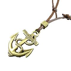 Муж. Ожерелья с подвесками Кожа Сплав Бижутерия Уникальный дизайн Мода Золотой Бижутерия Повседневные 1шт