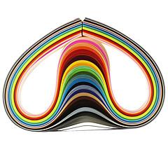 billiga Aktivitetsset till barn-120st 1cmx53cm Quilling papper (24 färg x5 st / färg) diy hantverk konst dekoration